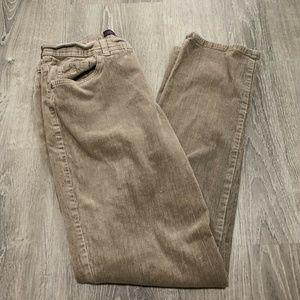 Vanderbilt Pants 12 Tan Stretch Corduroys PB95